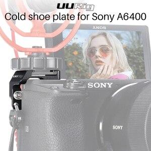Image 1 - UURig R011 mikrofon soğuk ayakkabı plaka SONY A6400 uzatma sıcak ayakkabı adaptörü braketi Tripod tutucu DSLR kameralar aksesuarları