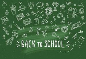 Image 3 - VinylBDS Green Screen Back To School Season Photography Backgrounds Blackboard  School Photo Backdrop Children Studio Backdrop