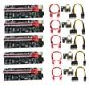 5pcs VER009 USB3.0 PCI-E Riser VER 009S PLUS Express 1X 4x8x 16x Extender pcie Riser Adapter Card SATA 15pin to 6pin Power
