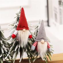 Boże narodzenie lalka bez twarzy ozdoba dekoracje na święta bożego narodzenia dla domu Cristmas dekoracje na choinkę Xmas Navidad 2020 prezenty nowy rok tanie tanio PD-496-503 christmas tree home decorations natal