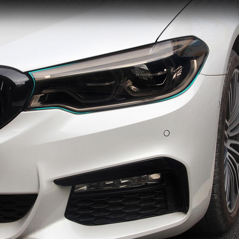 Lsrtw2017 TPU Transparent Black Car Headlight Protective Film For Bmw 5 6 Series 2018 2019 2020 G30 G31 G32 Anti-scratch Sticker