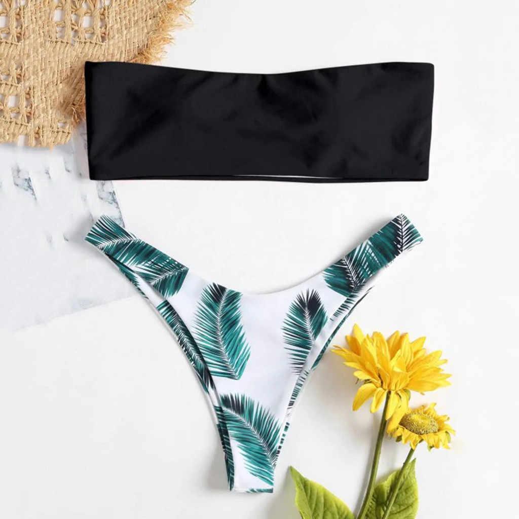Sexy Delle Donne del Bikini Set Off Spalla Stampa Imbottito Costumi Da Bagno di Alta Vita Mujer Costume Da Bagno Costume Da Bagno Beachwear Costumi Da Bagno #15