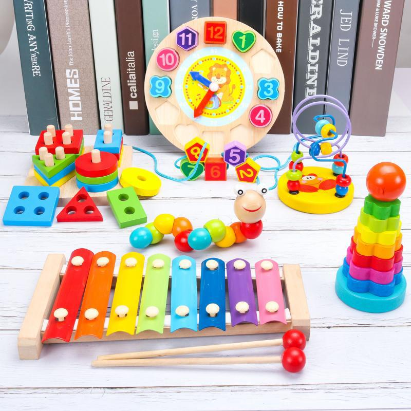 Baby Toy Yi ENLIGHTEN Building Blocks Beaded Bracelet Children Intelligence 10-30 Yuan Boy 0-1-2-3 One-And-a-Half-Year-Old Baby