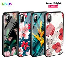 Black Cover Tree Summer Flower for iPhone X XR XS Max for iPhone 8 7 6 6S Plus 5S 5 SE Super Bright Glossy Phone Case black cover japanese samurai for iphone x xr xs max for iphone 8 7 6 6s plus 5s 5 se super bright glossy phone case