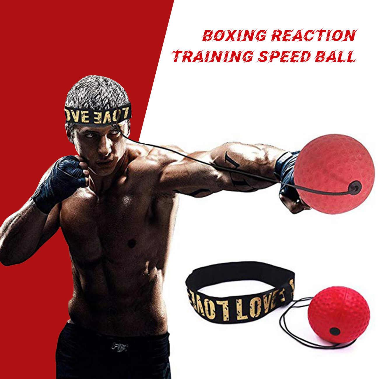 HEELPPO Bola Boxeo Pelota Boxeo Puching Ball De Boxeo El Equipo De Entrenamiento Pelota De Boxeo Diadema Cabeza De Bola De Reflejos De Boxeo Punchball De Adultos Boxeo Diadema Bola