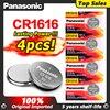 4 Pz/lotto Panasonic 100% e cr 1616 ECR1616 GPCR1616 CR1616 Batteria Delle Cellule del Tasto Per La Vigilanza Auto Chiave A Distanza di 3v batteria al litio