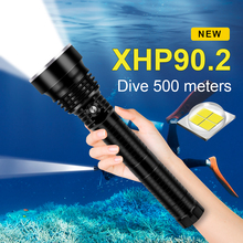 Flashlight-Torch Dive-Lantern Xhp90-Lamp Diving Tactical Professional Underwater 500M