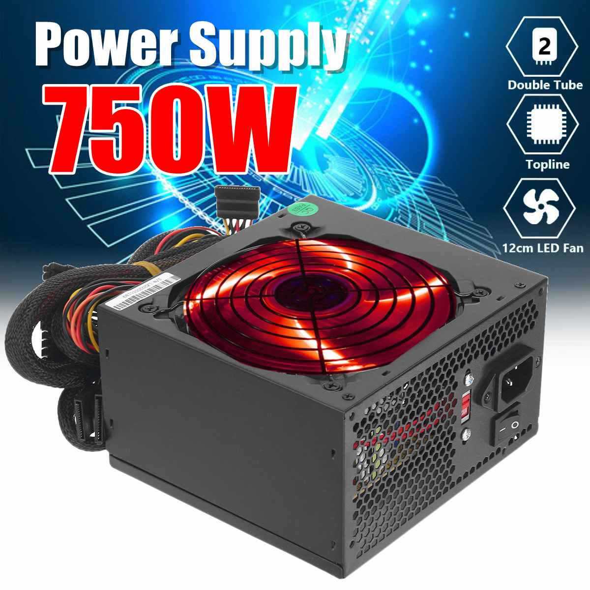 1000w 110 220v Pc Power Supply 12cm Led Silent Fan With Intelligent Temperature Control Intel Amd Atx 12v For Desktop Computer Pc Power Supplies Aliexpress