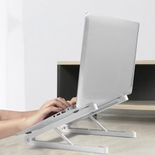 Laptop Stand, Ergonomic Plastic Computer Stand for Desk, 6 Levels Adjustable Laptop Riser with Heat-Vent, Laptop Mount Stand