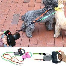 قابل للسحب الكلب سلسلة كلب تسخير مقود الحيوانات الأليفة الكلب مزدوجة الرصاص المقود 2 الكلب 50 جنيه تسخير المشي الرصاص المقود لجرو Perro