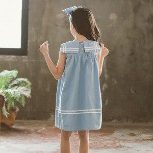 Image 2 - 新 2020 ガールプレッピースタイルのセーラー襟プリンセスドレス幼児レジャーベストドレス素敵な、 #5157