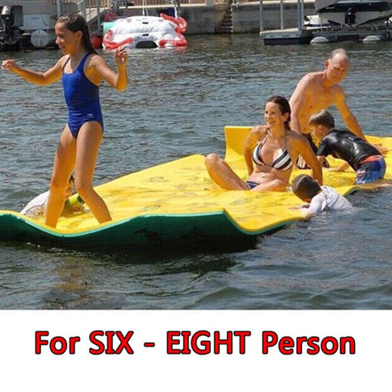 Sobre el agua flotante juguete manta de agua almohadilla de cama flotante manta de agua más suave flotador tipo alfombra entretenimiento al aire libre - 5