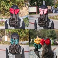 Retro Big Lolita Bowknot Hairpin Cosplay Fairy Maid Headwear Girl Cute Bobby Pin Star Style