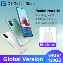 Versão global xiaomi redmi nota 10 celular 4gb ram 64gb/128gb rom snapdragon 678 octa núcleo 48mp quad câmera 33w