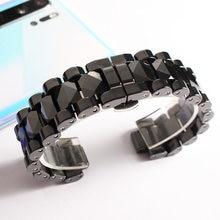 Nieuwe Voor Chanel Horloge Band Keramische Armband Zwart Wit Band 19Mm