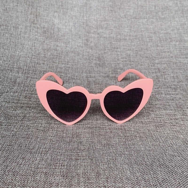 Đầm Trái Tim Thời Trang Kính Mát Nữ Thương Hiệu Thiết Kế Tình Yêu Lolita Mèo Mắt Kính Chống Nắng Đảng Kính Mắt Mắt Sắc Thái UV400