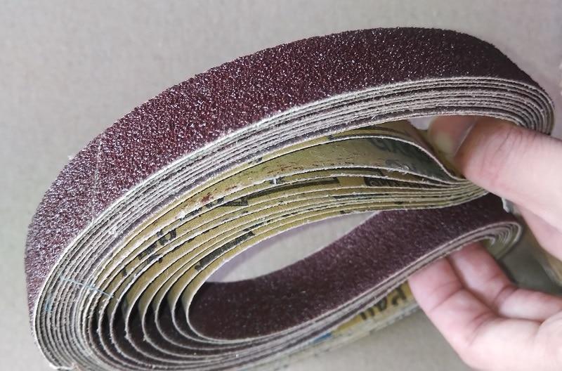New 10pcs 762 Belt Grinder Abrasive Sanding Belt GXK51 40#-800#  For Sharpening Weld Surface Conditioning