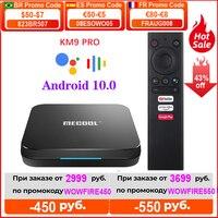 MECOOL KM9 Pro ivi certificado por Google Androidtv Android10 4GB 32GB KM2 2GB 16GB Amlogic S905X2 9,0 KM3 ATV 4G 64G 4K Dispositivo de TV inteligente