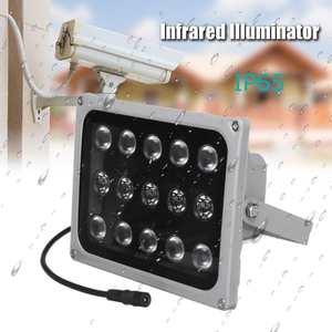 Image 1 - 12 v 15 led 적외선 조명 램프에 대 한 밤 비전 금속 채우기 빛 cctv 보안 액세서리 방수 ip65