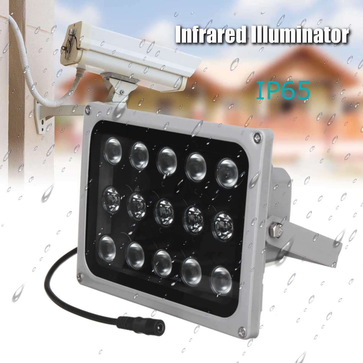 12V 15 LED Infrared for Illuminators Light Lamp Night Vision Metal Fill Light For CCTV Security Accessory Waterproof IP65