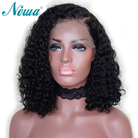 Newa Hair Full Lace Human Hair Wigs For Black Woman Pre Plucked Curly Full Lace Bob Wigs Brazilian Remy Hair Wigs With Baby Hair