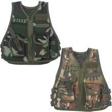 Детский боевой жилет, Детская камуфляжная одежда для охоты, CS Защитное снаряжение для стрельбы, боевой тренировочный Охотничий Тактический Жилет