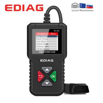 Ediag YA101 lector de código OBDII/EOBD control de batería YA-101 herramienta de diagnóstico automático gráfico datasstream OBD2 Real 16Pin DIY Scanner CR3001