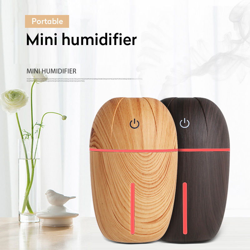 Mini USB Aroma Essential Oil Diffuser Wood Ultrasonic Air Humidifier Aromatherapy Diffuser Mist Maker LED Light For Home Office