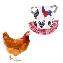 Einstellbare Haustier Kleidung Hen Schürze Geflügel Henne Sattel Schürze Feder Schutz Halter Huhn Ente Flügel Zurück Protector Hen Kleid