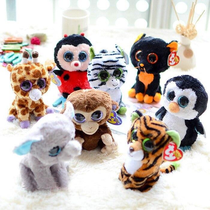 Ty Beanie Boos 15cm Unicorn Cat Dog Elephant Plush Doll Toys For Children Girls Animal Peluche Anime Brinquedos Para Bebe