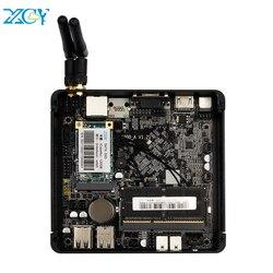 XCY мини ПК Intel Celeron J1900 четырехъядерный Безвентиляторный Windows 10 Linux Gigabit Ethernet WiFi HDMI VGA 4 * USB промышленный микро ПК