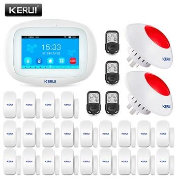 KERUI K52 Touch Screen WIFI GSM Alarm Security Home Alarm System Home Door Open Reminder Window Sensor Wireless Siren Remotes 1