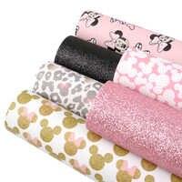 6 pz/set 20*34cm Stampato Del Fumetto Del Cuoio Del Faux per Archi Tessuto di Tela Impermeabile Textil In Pelle Sintetica Copriletto FAI DA TE, 1Yc7830