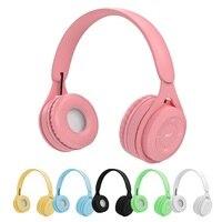 Cuffie senza fili gioco per bambini cuffie Stereo Hi-Fi Bluetooth Audio Mp3 TF Card cuffie con cancellazione del rumore con microfono per regalo ragazza