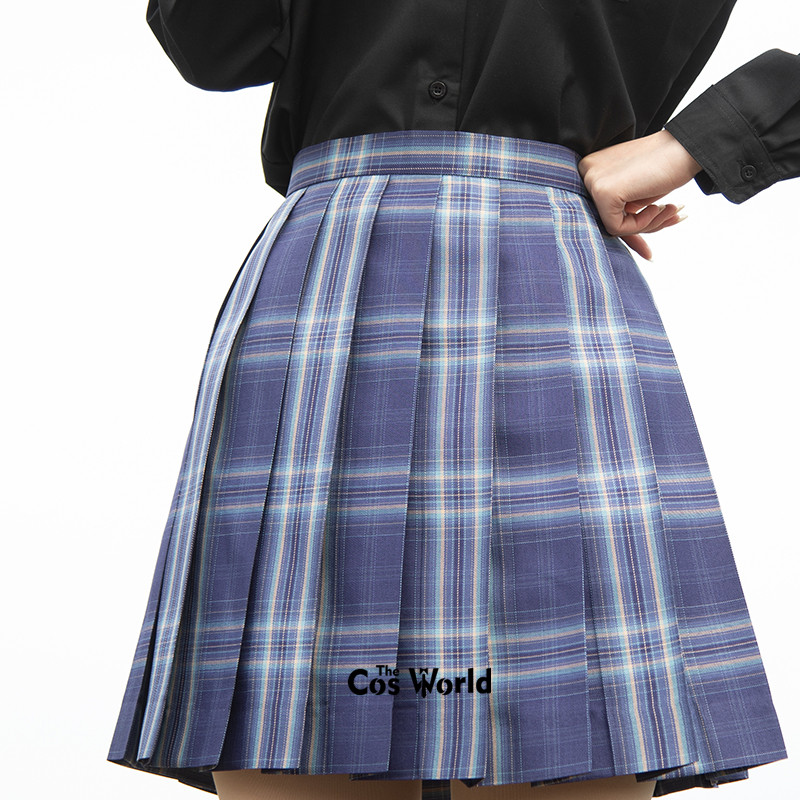 [Star Globe] Girl's Summer High Waist Pleated Skirts Plaid Skirts Women Dress For JK School Uniform Students Cloths