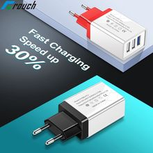 Crouch 5V2A 3U USB Charger EU US Adapter traverl charger cha