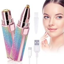 Eyebrow-Trimmer Shaver Hair-Removal Painless Electric Mini Women 2-In-1