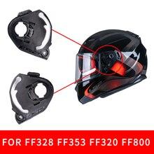 Une paire de supports de bouclier pour casque de moto LS2, face complète, adapté pour FF370 FF3396 FF320, visière noire, verre de base