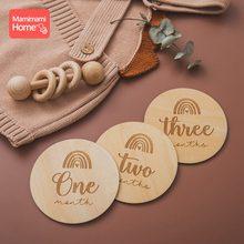 14pcベビー木製おしゃぶりphotogra木製月マイルストーンカード新生児毎月記念記念写真アクセサリー子供のための