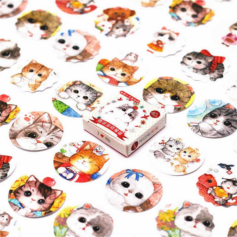 40 Pcs Mooie Dragon Katten Sticker Dier Leuke Decals Stickers Geschenken Voor Kinderen Om Laptop Koffer Gitaar Koelkast Fiets Auto