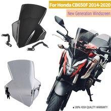 Moto Tela de Voar CB650F Windshield Windscreen para Honda 2014 2015 2016 2017 2018 2019 2020 CB 650 F CB 650F Deflector de Vento