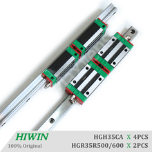HIWIN HGR35 Linear Guide Rail HGH35CA Blocks Carriage router parts 1500mm Linear Guideways for CNC Parts Heavy Load