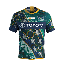 North Queensland Cowboys 2020 Men's Indigenous Jersey Rugby Jersey Sport Shirt S-5XL