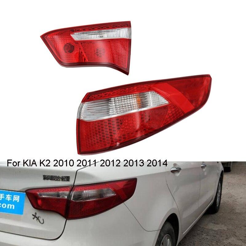 Внутренний/наружный хвост светильник для KIA K2 2010 2011 2012 2013 2014 задний стоп-сигнал светильник единый светильник задний фонарь светильник taillamp