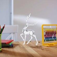 Figurines de cerf en cristal en forme d'animal clair, Sculpture transparente, ornements, pour la maison, le bureau, cadeaux de décoration