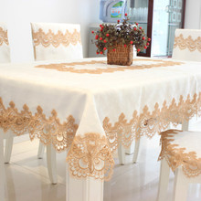European Lace White Tablecloth Home Hotel Party Table Cloth Decoration Rectangular Simple Elegant Cover СкатертьдляСтола