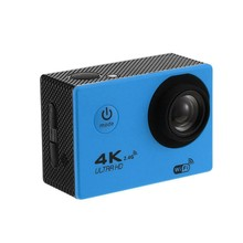 Hot AMS-4K Wifi Aksi Kamera 1080P HD 16Mp Helm Cam DV Tahan Air Remote Control Video Olahraga DVR Biru(China)