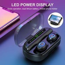 V10 LED Display Mini Wireless Bluetooth 5.0  In-Ear Earphone Touch Control Headphone Беспроводные наушники-вкладыши цена