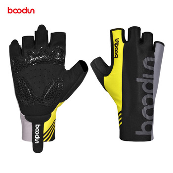 BOODUN Men Women Cycling Gloves Half Finger Shockproof Summer Breathable Road Bike Gloves Anti-slip Elastic Bicycle MTB Gloves boodun summer cycling gloves half finger sports luvas guantes ciclismo road mountain bikes mtb bicycle wrist gloves men women