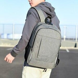 Image 2 - Mochila antirrobo para hombre, mochila escolar para ordenador portátil de lona para hombres, mochila para adolescentes, mochila escolar para adolescentes, mochila para hombre y Estudiante